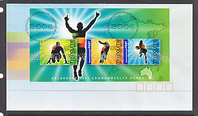 2006  Commonwealth Games Sheetlet Fdc