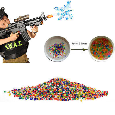 10000x Water Bullet Balls Gun Pistol Toy Water Gun Crystal Soft Bullets 9mm-11mm