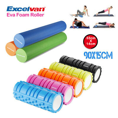 33cm/90cm Yoga Foam Roller GYM Pilates Massage Physio Trigger Floating Point EVA