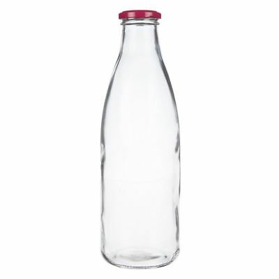 NEW Maxwell & Williams Cosmopolitan Colours Milk Bottle, 1L in Pink, Purple