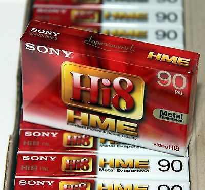 SONY Hi8 E5-90HME3 PAL Video Kassette Leer 8mm