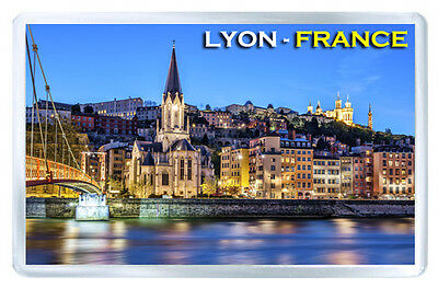 Lyon France Mod2 Fridge Magnet Souvenir Iman Nevera