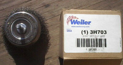 """New Weiler 2 3/4"""" med cup wire wheel, 1/4"""" shank,#14302"""