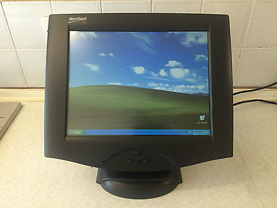 """15"""" MicroTouch 3M Touch Screen Epos Display Monitor PSU and Cables POS"""