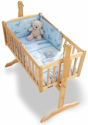 Rocking Crib Bedding Set Nursery Baby Room Bed Cot Quilt and Bumper Puppy Soft
