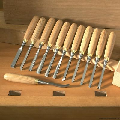 Carving Tools - Set of 12 with Ash Handles