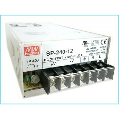 Mean Well  SP-240-12 AC/DC Power Supply Single-OUT 12V 20A 240W US Authorized