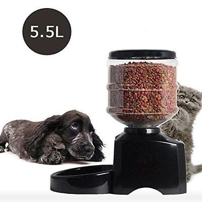 Distributeur de Croquettes Alimentation Digital Automatique 5.5L Pour Pet Feeder