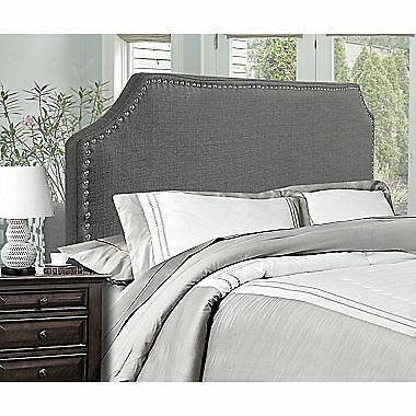 Candace & Basil Queen/Full Size Headboard – 63 x 3.5 x 53 – Grey