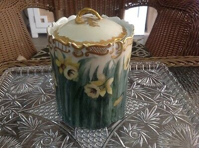 Antique Rosenthal Monbijou Porcelain Jar with Lid