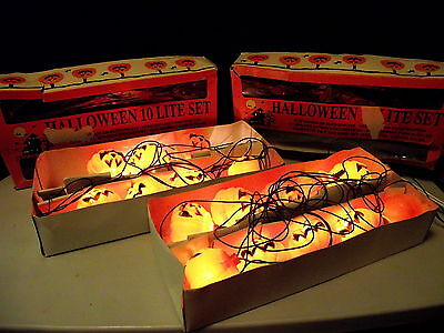 Vintage Halloween Lite Set~~2 sets Jack O'Lanterns Indoor/ Outdoor Use