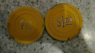 set of 2 Vic Casino chips