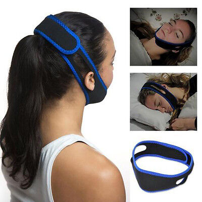1pc Pro Anti Snoring Chin Strap Jaw Sleep Aid Belt Snore Apnea Support Band New