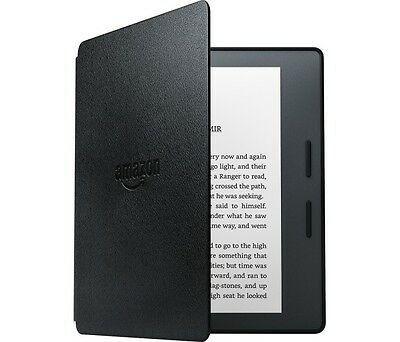 """New Amazon Kindle Oasis+Leather Charge Cover Black 6"""" Wireless Ereader~In Stock"""