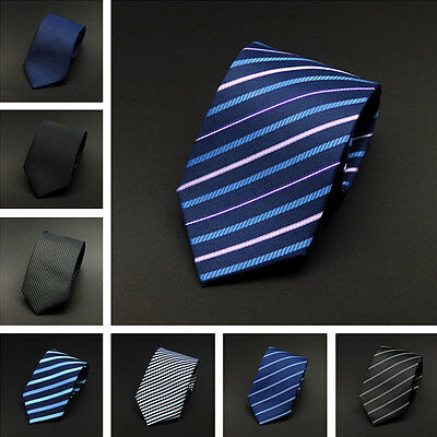 Mens Skinny Tie Wedding Business Thin Narrow Slim Formal Men's Neck Stripped Tie