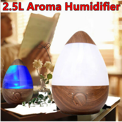 2.5Litre Essential Oil Ultrasonic Ion Humidifier Aroma Air  Diffuser Purifier AU