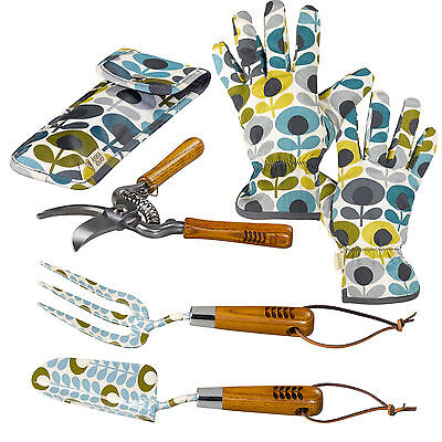 Orla Kiely Trowel Fork Potting Gloves Secateurs Gardening Multi Flower Print
