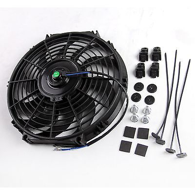 """Universal Radiator Cooling Fan Push / Pull Mounting Kit Curved Blade 12"""" 12inch"""