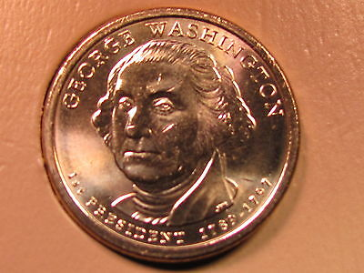 2007 D - George Washington $1 Presidential Golden Dollar Coin