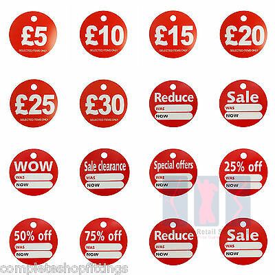 Round Sale Reduce Special Offfer Cards Hanger Swing £5,£10,£15,£20,£25,30 Ticket