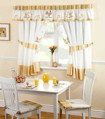 Roosters Kitchen Curtains - Fun & Fresh Kitchen Curtains & Matching Cafe Voile
