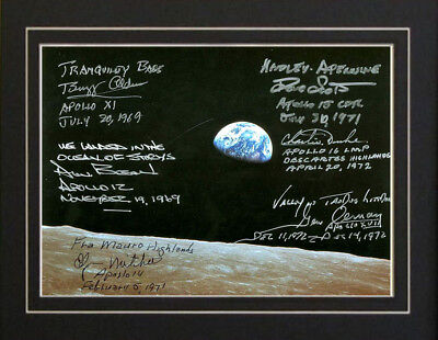 6 Moonwalkers-Apollo 11 12 14 15 16 17 Autographs Print