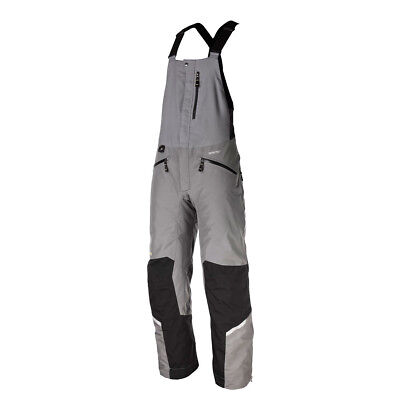 Klim Grey/Black Mens Keweenaw Insulated Snowmobile Bibs Pants Snocross 2017