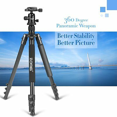Q555 Portable Professional Aluminium Tripod&Ball Head Travel for DSLR Camera