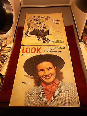 "Large Pair Of Old Vtg ""look"" Magazines, Incl February 3, 1948 & June 21, 1949"