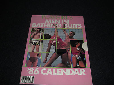 Playgirl Magazine 1986 Men In Bathing Suits Calendar