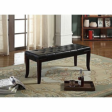 Candace & Basil Accent Bench – Espresso – 44 x 16 x 19.5