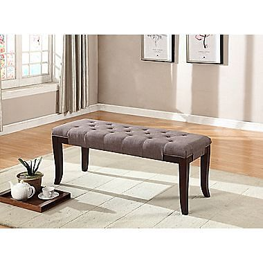 Candace & Basil Accent Bench – Grey – 44 x 16 x19.5
