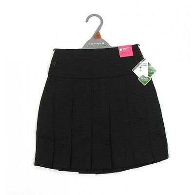 Girls Ex Store Grey Pleated School Skirt  Age 4,5,6,7,8,9,10,11,12,13 Years NEW