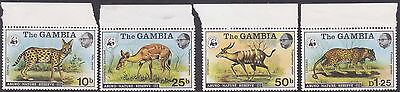 MKartifacts The Gambia Sc 341-344, SG 356-359 MNH Animals Abuko Nature Reserve