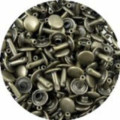 Springfield Leather Co. Antique Brass Double Cap Rivets, Large, 50 Pack