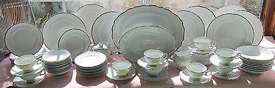 69 Pcs Harmony House Japan Dinner Set Silver Sonata Dinner Set +Serv Pcs No. 1