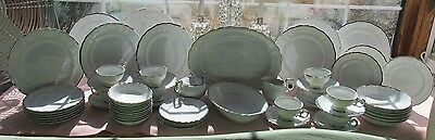 66 Pcs Harmony House Japan Dinner Set Silver Sonata Dinner Set +Serv Pcs No. 2