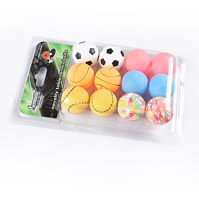 1 Pack of Formula Novelty Table Tennis 12 Balls 1 Star Free Postage