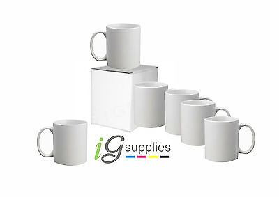 144x 11oz White Sublimation Mugs AA Grade- Double Layer Coated+1x 5mm Heat Tape