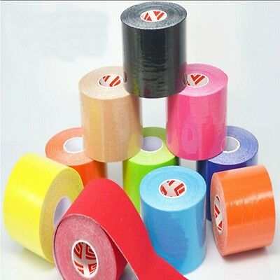 5M Tape Roll Sports Physio Muscle Strain Injury Support Kinesiology Elastic