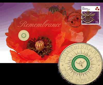2014 Remembrance PNC - with coloured  $2 coin