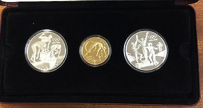 1996 olympic gold and silver three coin set