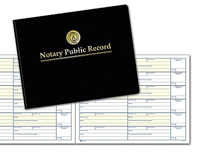 Adams Notary Public Record Journal 11 x 8.5 Inches 6 Entries Per Page 63 Page...