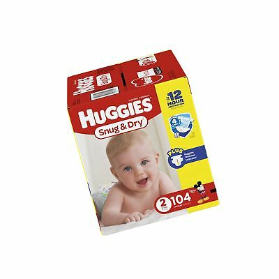 Huggies Snug and Dry Diapers Size 2 104 Count