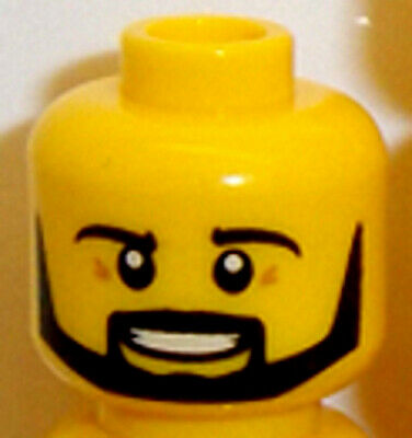 Spare Lego Minifigure Yellow Head With Dual Face X1 Male Guy Boy