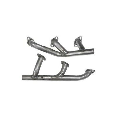 Exhaust Headers - Tubular - Painted Black - Flathead V8 - Ford Convertible Only
