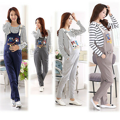 New Overalls Dungarees Pants Trousers Jumpsuits Cute Owls Trendy M/L/XL/2XL