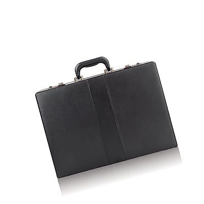 Leather Like Briefcase Attache Bag Business Portfolio Men Handbag Hard Case Lock
