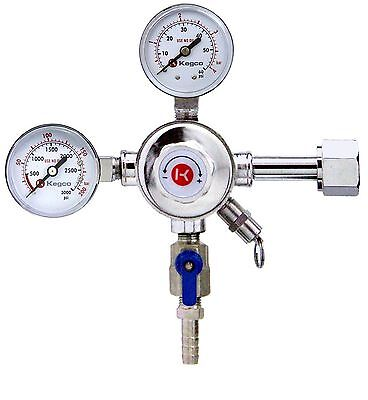 Kegco KC LH-542 Premium Pro Series Dual Gauge Co2 Draft Beer Regulator Chrome