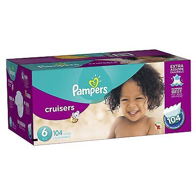 Pampers Cruisers Diapers Economy Plus Pack Size 6 104 Count